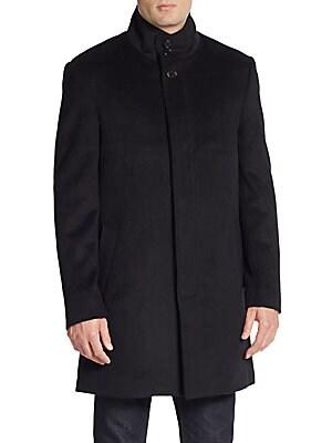 Trim-Fit Wool-Blend Coat