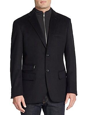 Trim-Fit Wool & Cashmere Coat
