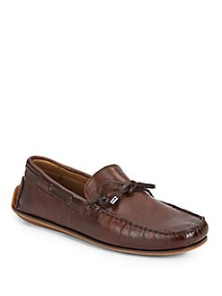 Lace Leather Moccasins