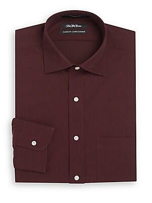 Classic-Fit Fine Line Dress Shirt