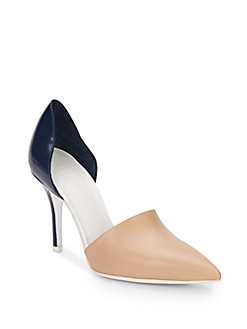 Claire Two-Tone Leather Pumps