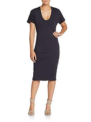 Cotton Jersey Dolman Dress