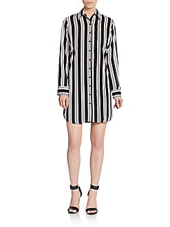 Colin Striped Shirtdress