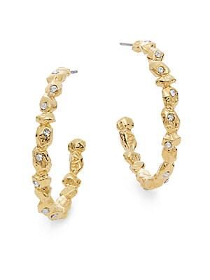 Elements Phoenix Swarovski Crystal Rocky Hoop Earrings/1