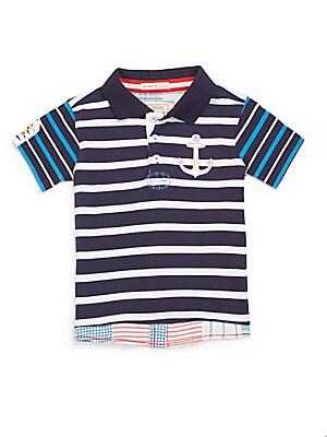 Little Boy's & Boy's Rugby Stripe Polo