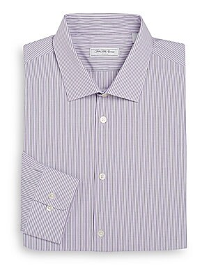 Modern-Fit Striped Dress Shirt
