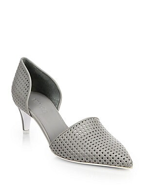 Aurelian 2 Perforated Leather D'Orsay Pumps