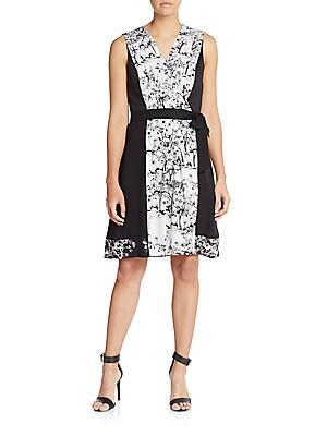 Kylie Printed Stretch-Silk Wrap Dress