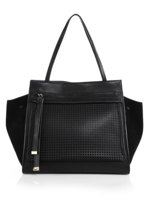 Equestre Leather  Suede Medium Tote Furla Exclusively for Saks Fifth Avenue