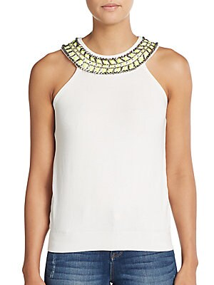 Beaded Necklace Top