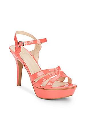 Princey Patent Open-Toe Platform Sandals