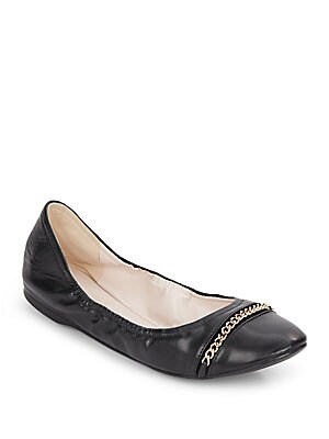 Cortland Leather Ballet Flats