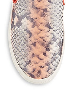 Impulse Stamped Leather Slip-On Sneakers