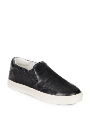 ASH Impulse Embossed-Leather Platform Skate Sneakers