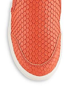 Intense Embossed Leather Slip-On Sneakers