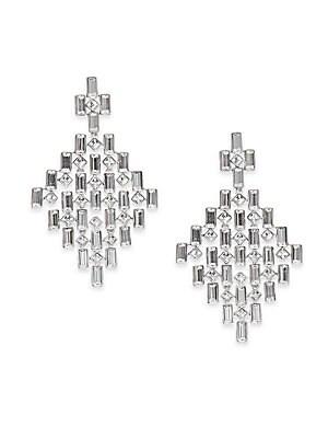 Viola Swarovski Crystal Chandelier Earrings