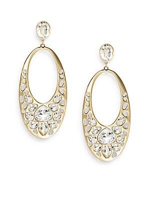 Ariane Swarovski Crystal Oval Drop Earrings