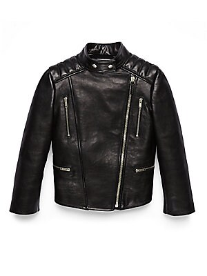 gucci girls 188971 girls mixedmedia leather biker jacket