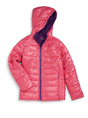 Toddler's, Little Girl's & Girl's Fleece-Lined Puffer Jacket