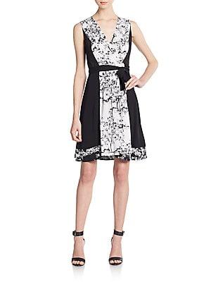 Kylie Printed Stretch-Silk Wrap Dress