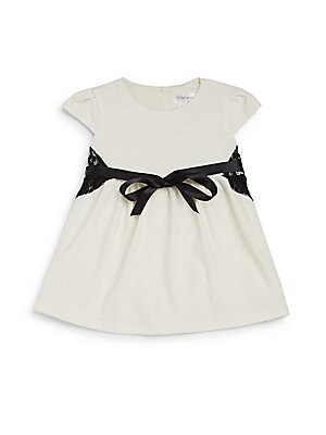 Baby's Lace-Trimmed Fit-&-Flare Dress