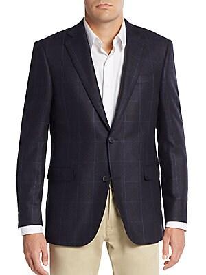 Slim-Fit Windowpane Cashmere Sportcoat
