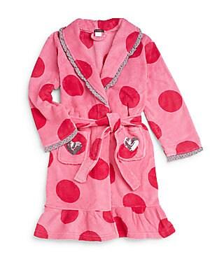 Girl's Polka Dot Glamour Robe