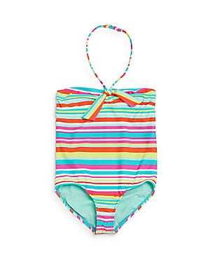 Little Girl's & Girl's One-Piece Striped Swimsuit