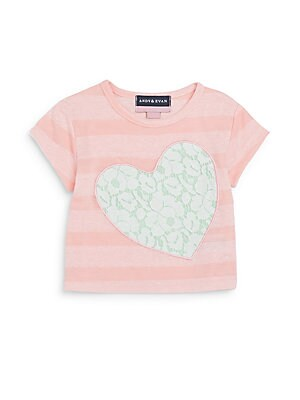 Baby's Striped Lace Heart T-Shirt