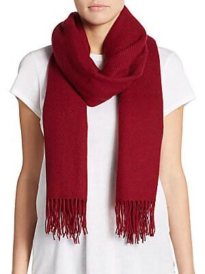 Blanket Fringe Wool-Blend Scarf