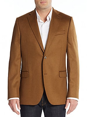 Slim-Fit Solid Cashmere Sportcoat