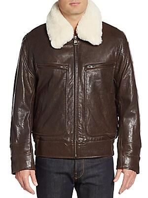 Carmine 2 Faux Fur-Trimmed Leather Jacket