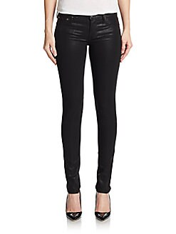Helmut Lang  Lacquered Skinny Jeans