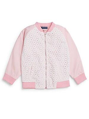 Infant's Eyelet Cotton Bomber Jacket