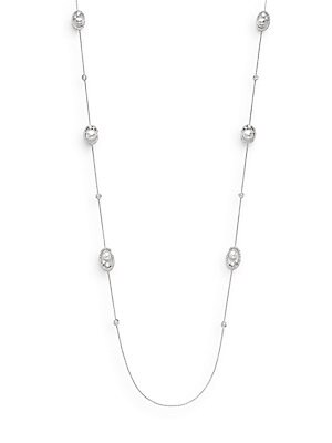 White Stone Nested Pearl Necklace