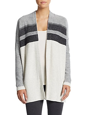 Variegated Wool & Cashmere Cardigan
