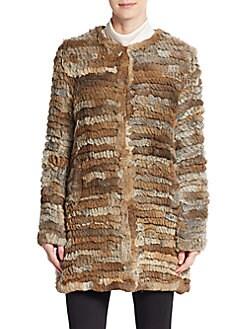 Knit Rabbit Fur Coat