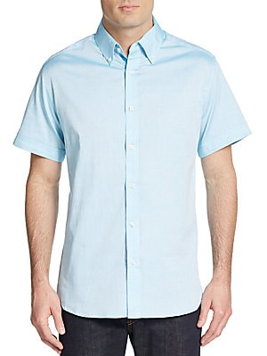 Regular-Fit Tonal Dot Cotton Sportshirt