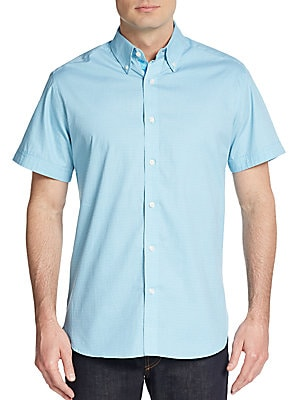Regular-Fit Textured Cotton Sportshirt