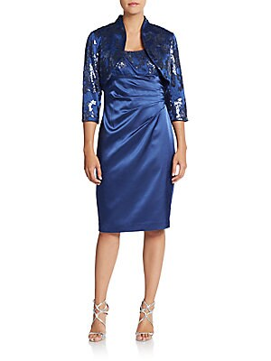 Shantung Sequined Dress & Jacket