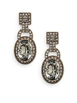 Be Linked Swarovski Crystal Drop Earrings/Goldtone