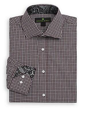 Windowpane-Print Shirt