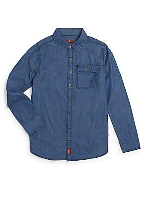 Boy's Cotton Chambray Shirt