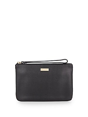 Saffiano Leather Wristlet