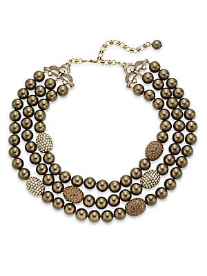 Swarovski Crystal Three-Row Beaded Necklace