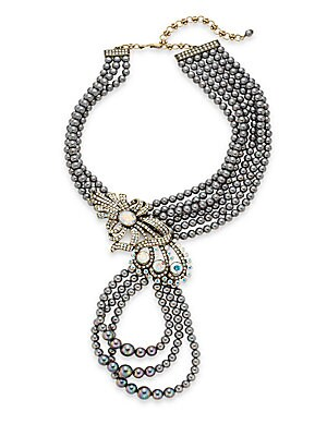 Swarovski Crystal Multi-Row Beaded Necklace