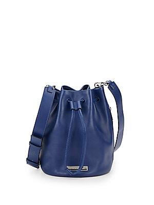 Luna Two-Tone Leather Bucket Bag