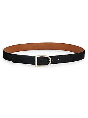 Leather & Calf Hair Belt