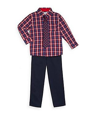 Little Boy's Three-Piece Shirt, Tie & Pants Set