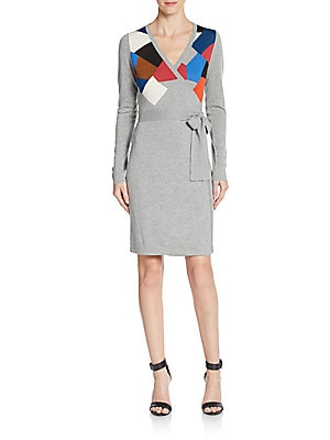 Leandra Wool Jersey Wrap Dress